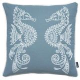 Rocco Seahorse Embroidered Navy 43 x 43cm Filled Cushion - Set Of 4