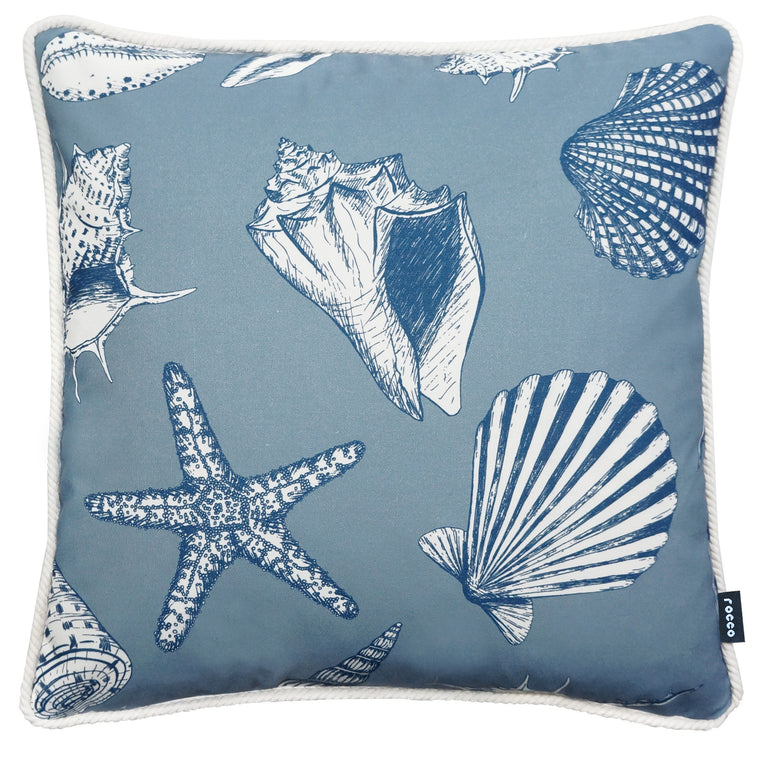 Rocco Coast Navy 43 x 43cm Filled Cushion