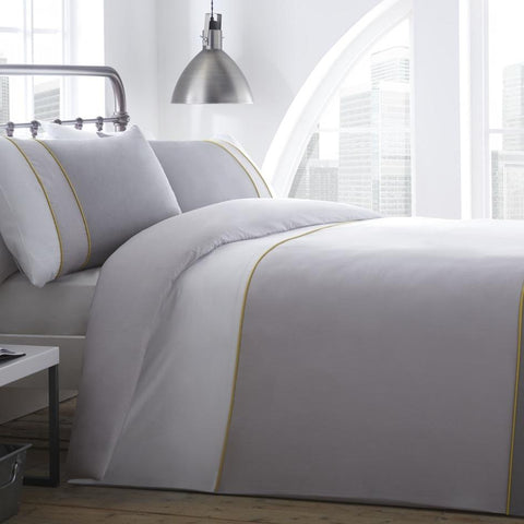 Racing Green Lawson White/Grey Duvet Cover Set