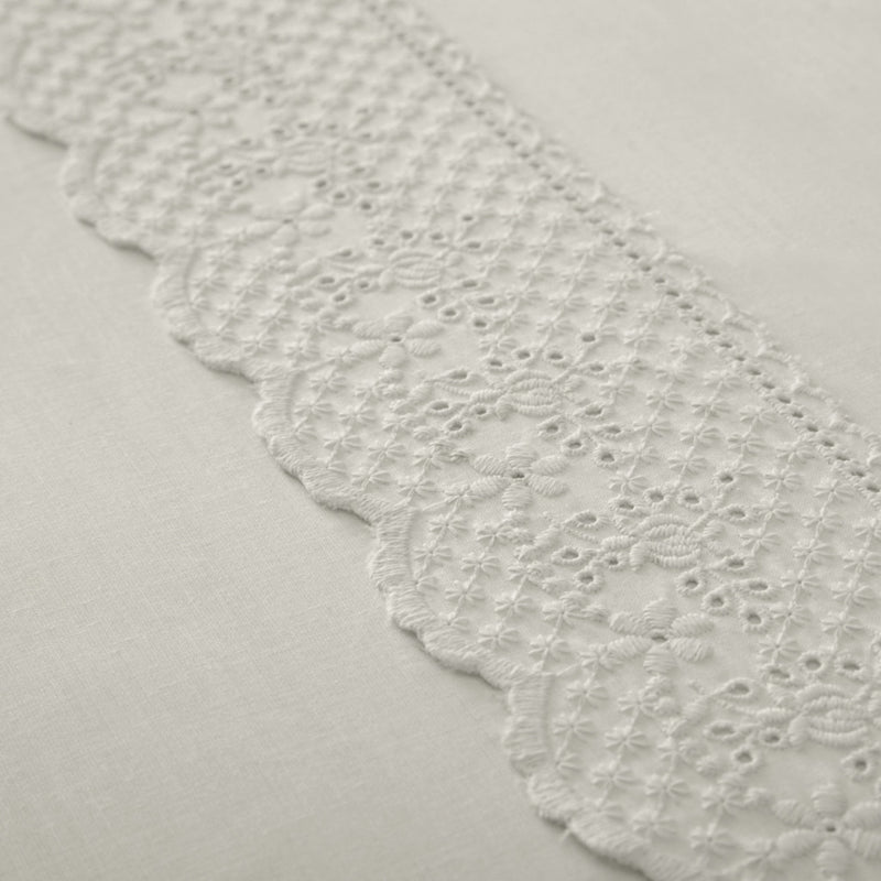 Renaissance Ivory Vintage Lace Duvet Cover & Pillowcase Set