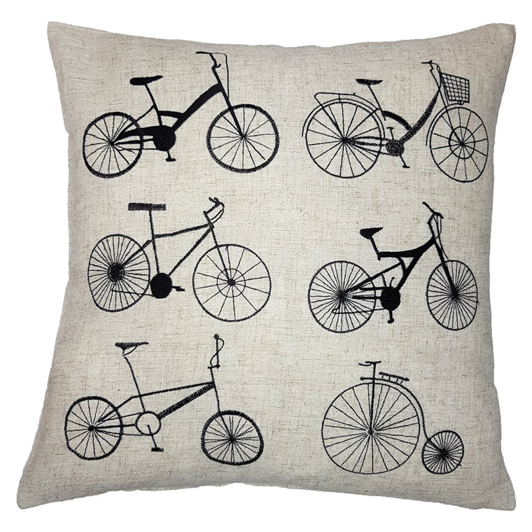 One Of A Kind Retro Bicycles 43x43cm Cushion