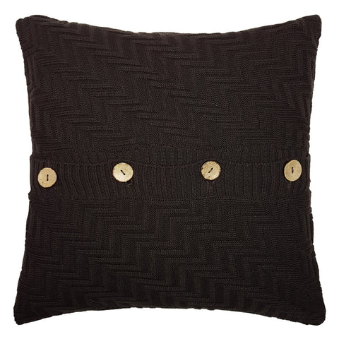 One Of A Kind Brown Chunky Cable Knit 43x43cm Cushion