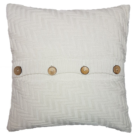 One Of A Kind Scandi Cream Chunky Knit 43x43cm Cushion