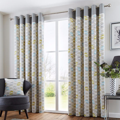 Stanalee Duck Egg Eyelet Lined Curtains