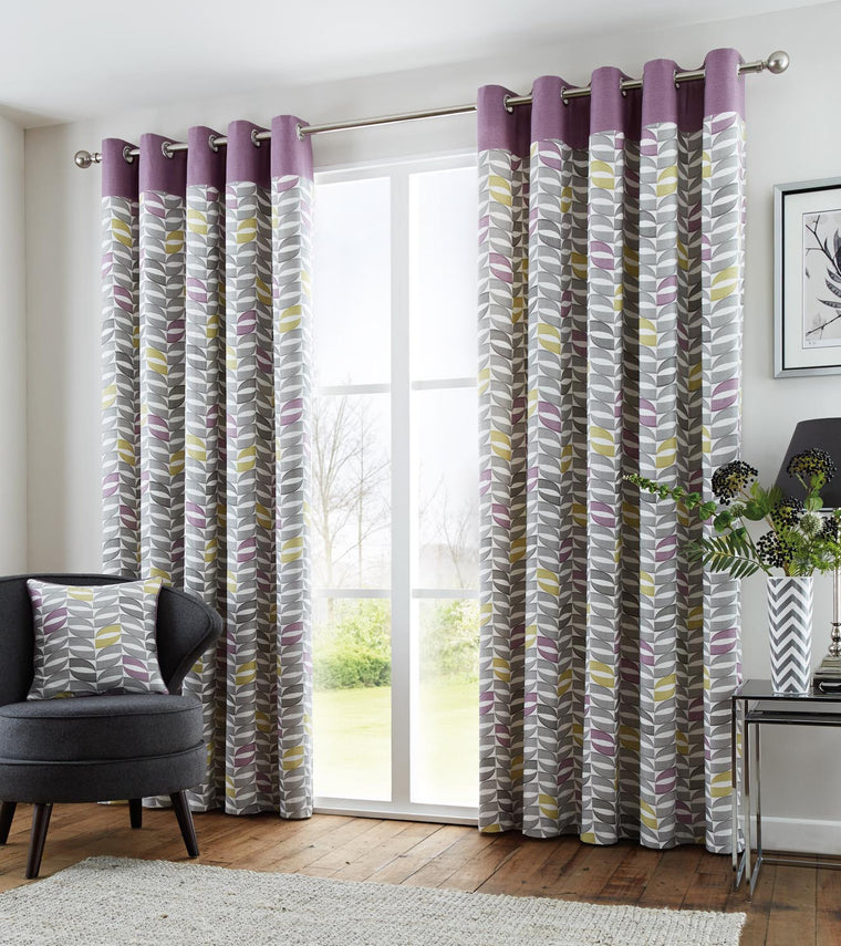 Stanalee Heather Eyelet Lined Curtains