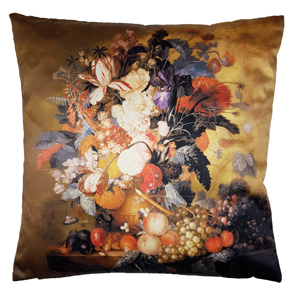 One Of A Kind Traditional Flowers 43x43cm Cushion
