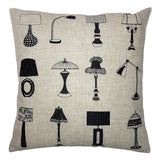 One Of A Kind Vintage Lamps 43x43cm Cushion