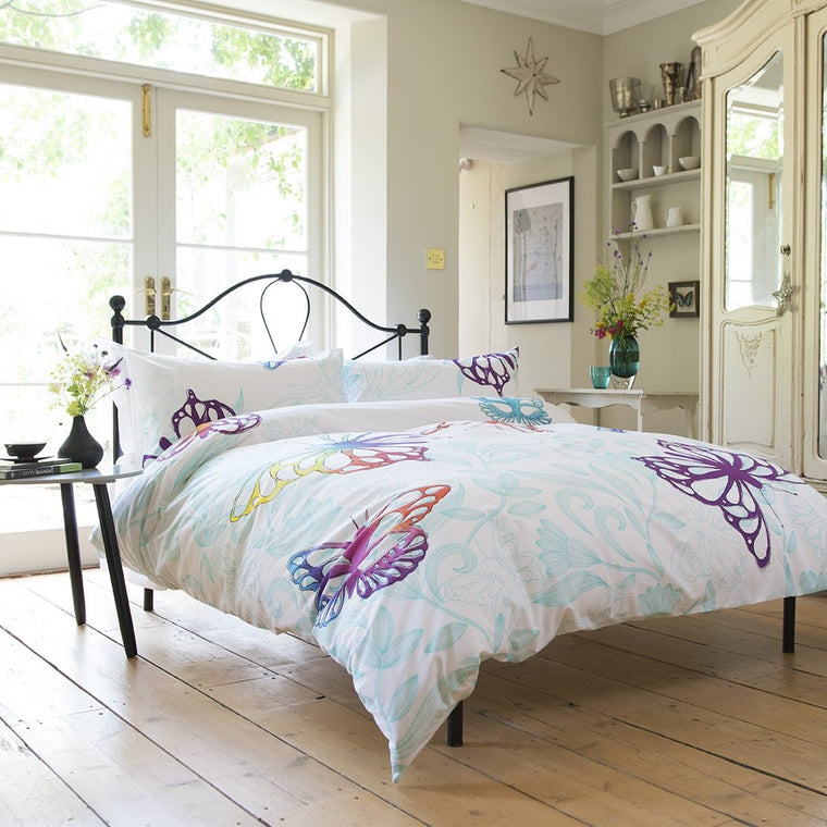 Vintage Butterfly Duvet Cover Set