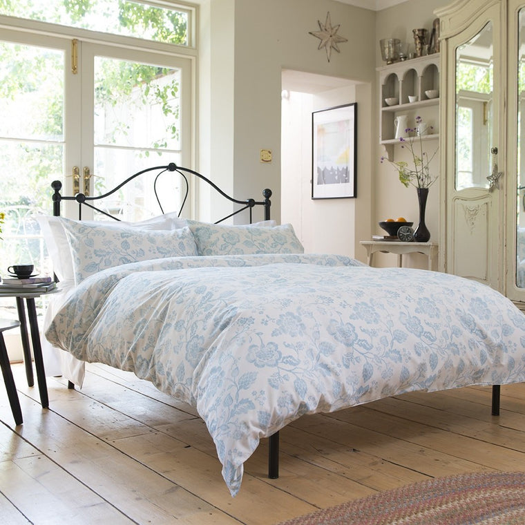 Vintage Dutch Floral Blue Duvet Cover Set