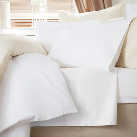 200 Thread Count Pure White 100% Egyptian Cotton Extra Deep Sheets