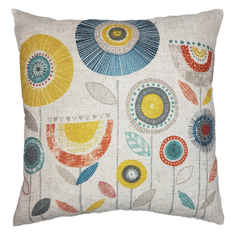 One Of A Kind Artistic Flowers 43x43cm Cushion