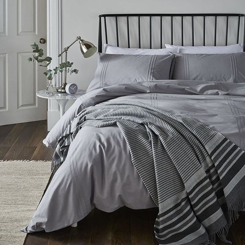 Minimalist Duvet Set Grey