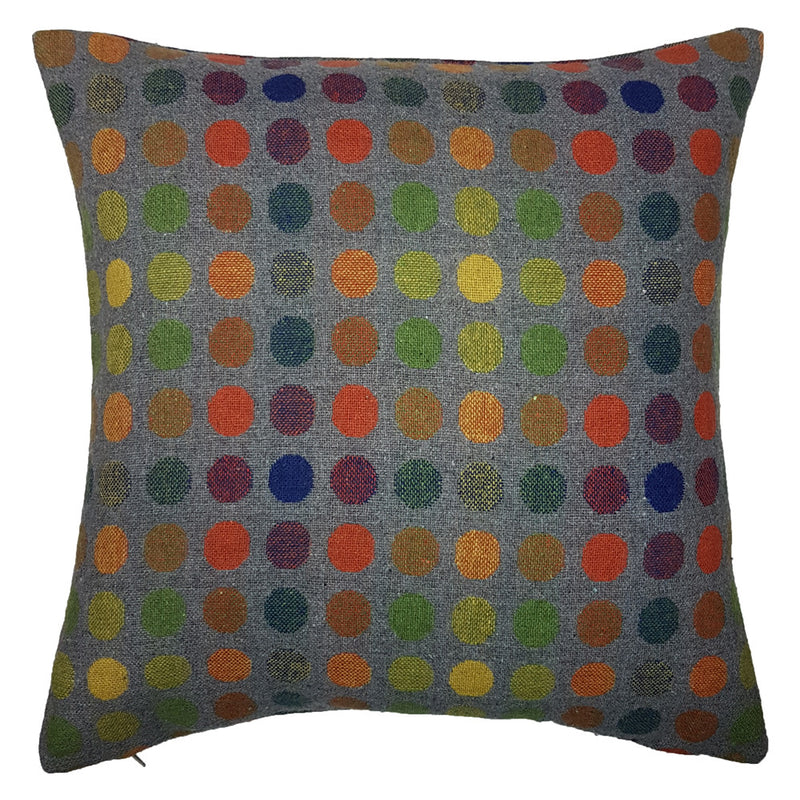 One Of A Kind Colourful Spots 43x43cm Cushion