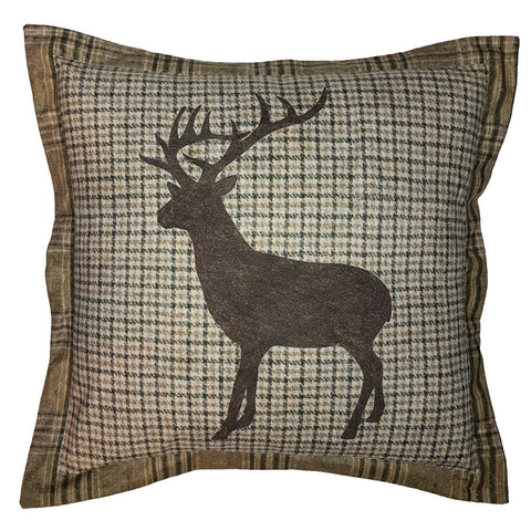 One Of A Kind Stag Tweed Check 50x50cm Cushion