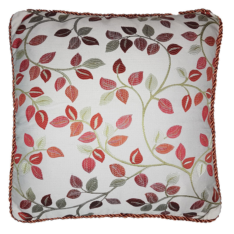 One Of a Kind Red Vine Leaf 43x43cm Cushion