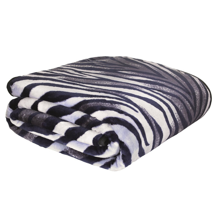 Zebra Print Raschel Throw