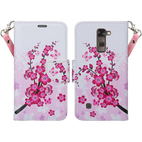 LG Stylo 2 Plus Wallet Case - cherry blossom - www.coverlabusa.com