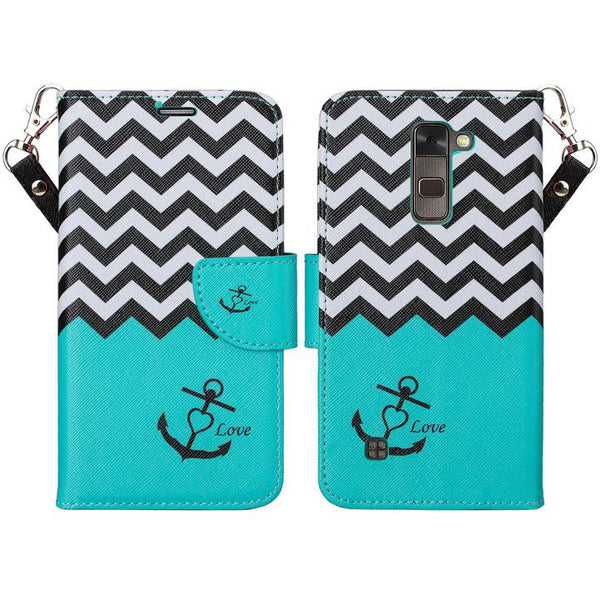 lg stylo 2 plus wallet case - teal anchor - www.coverlabusa.com