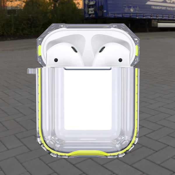 apple airpods 1&2 clear crystal case - yellow- www.coverlabusa.com