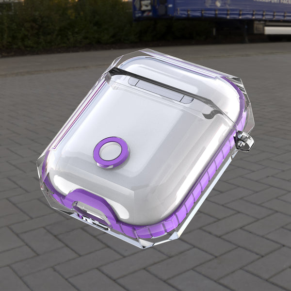 apple airpods 1&2 clear crystal case - purple - www.coverlabusa.com