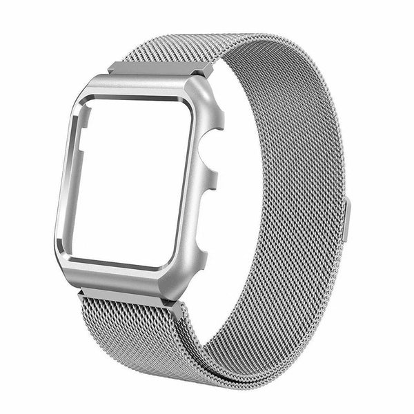 Stainless Steel Mesh Milanese Loop Compatible for Apple Watch Band with Case 38mm, Adjustable Magnetic Closure Replacement Wristband iWatch Band for Apple Watch Series 3 2 1 - Silver