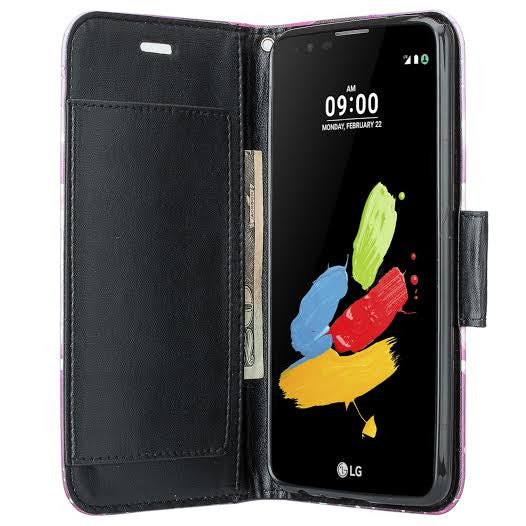 lg stylo 2, stylo 2 v wallet case - purple lotus - www.coverlabusa.com