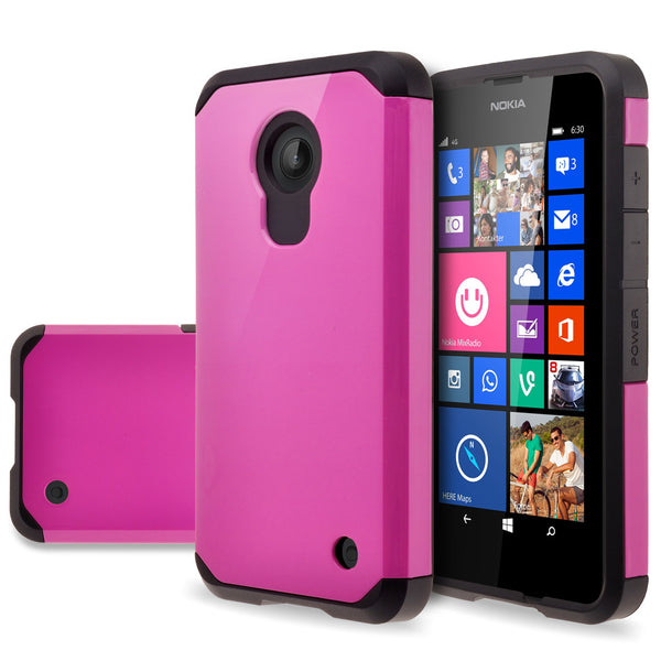Nokia Lumia 635 Slim Hybrid Dual Layer Case - Hot Pink - www.coverlabusa.com