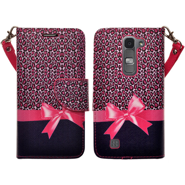 lg volt2 wallet case - cheetah prints - www.coverlabusa.com