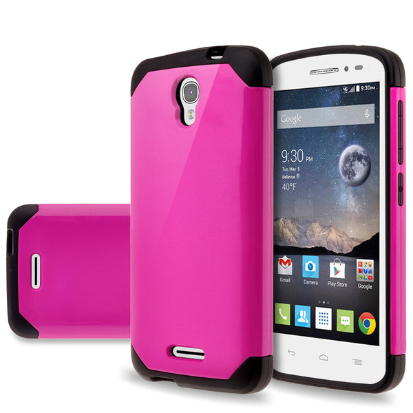 Alcatel OneTouch POP Astro Slim Hybrid Dual Layer Case - Hot Pink - www.coverlabusa.com