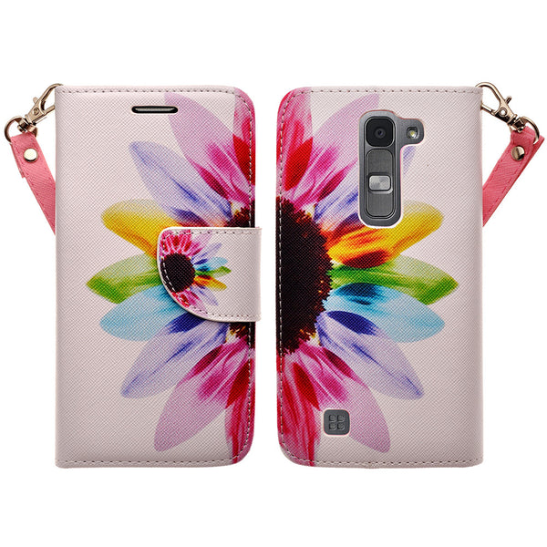 lg volt2 wallet case - vivid sunflower - www.coverlabusa.com