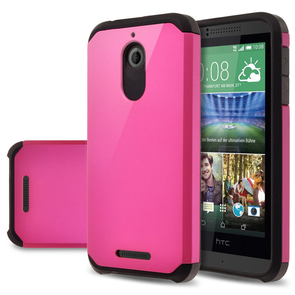 HTC Desire 510 Hybrid Case Cover - Hot Pink - www.coverlabusa.com