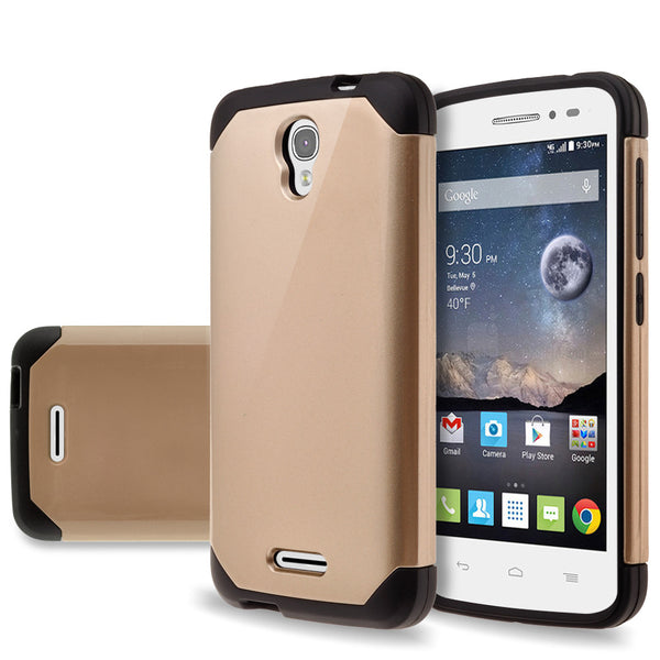Alcatel OneTouch POP Astro Slim Hybrid Dual Layer Case - Gold - www.coverlabusa.com