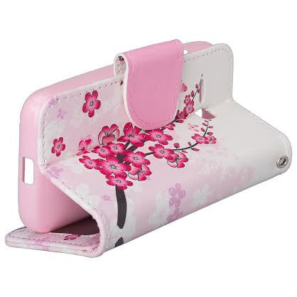 Alcatel Pixi Eclipse Wallet Case, Cherry Blossom, WWW.COVERLABUSA.COM