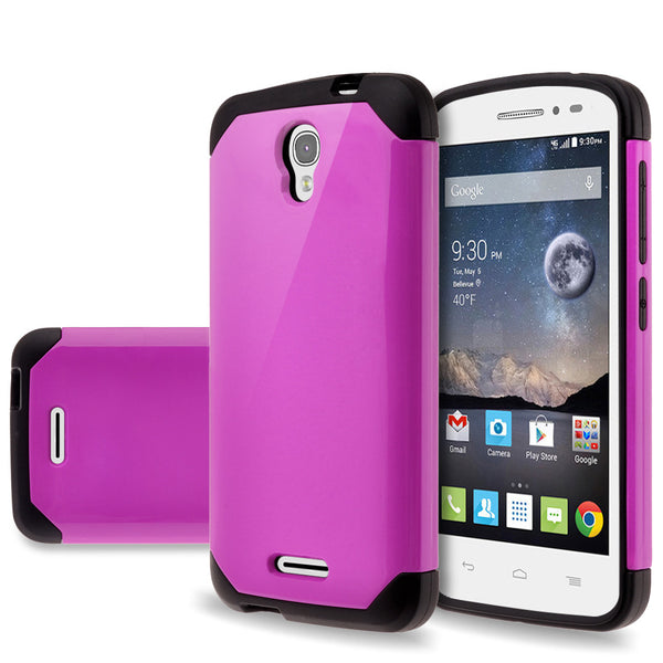 Alcatel OneTouch POP Astro Slim Hybrid Dual Layer Case - Purple - www.coverlabusa.com