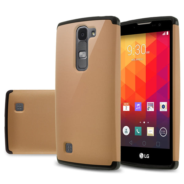 LG Volt2 Slim Hybrid Dual Layer Case - Gold/Black  - www.coverlabusa.com
