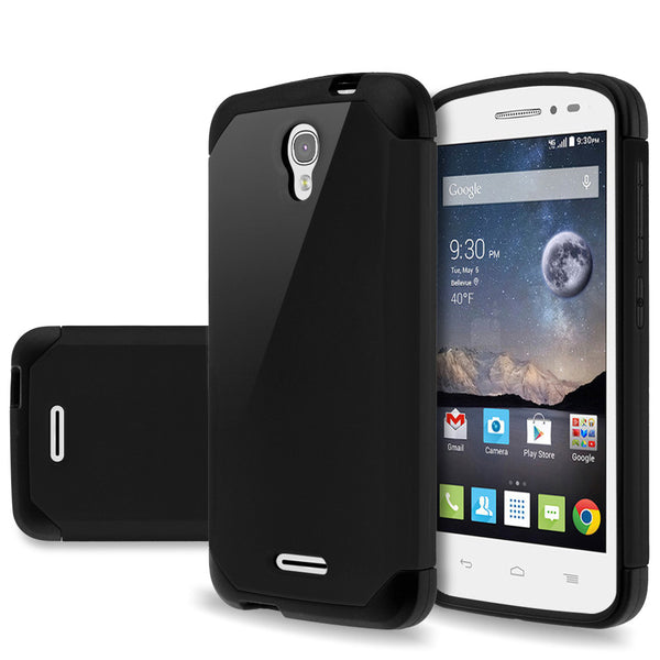 Alcatel OneTouch POP Astro Slim Hybrid Dual Layer Case - Black - www.coverlabusa.com