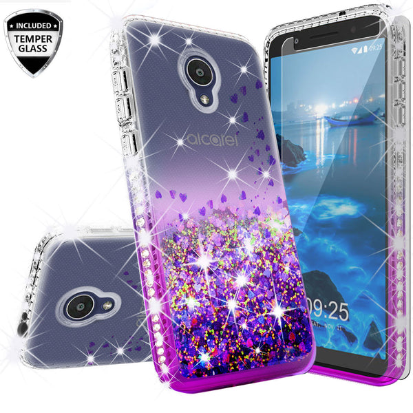 clear liquid phone case for alcatel 1x evolve - purple - www.coverlabusa.com