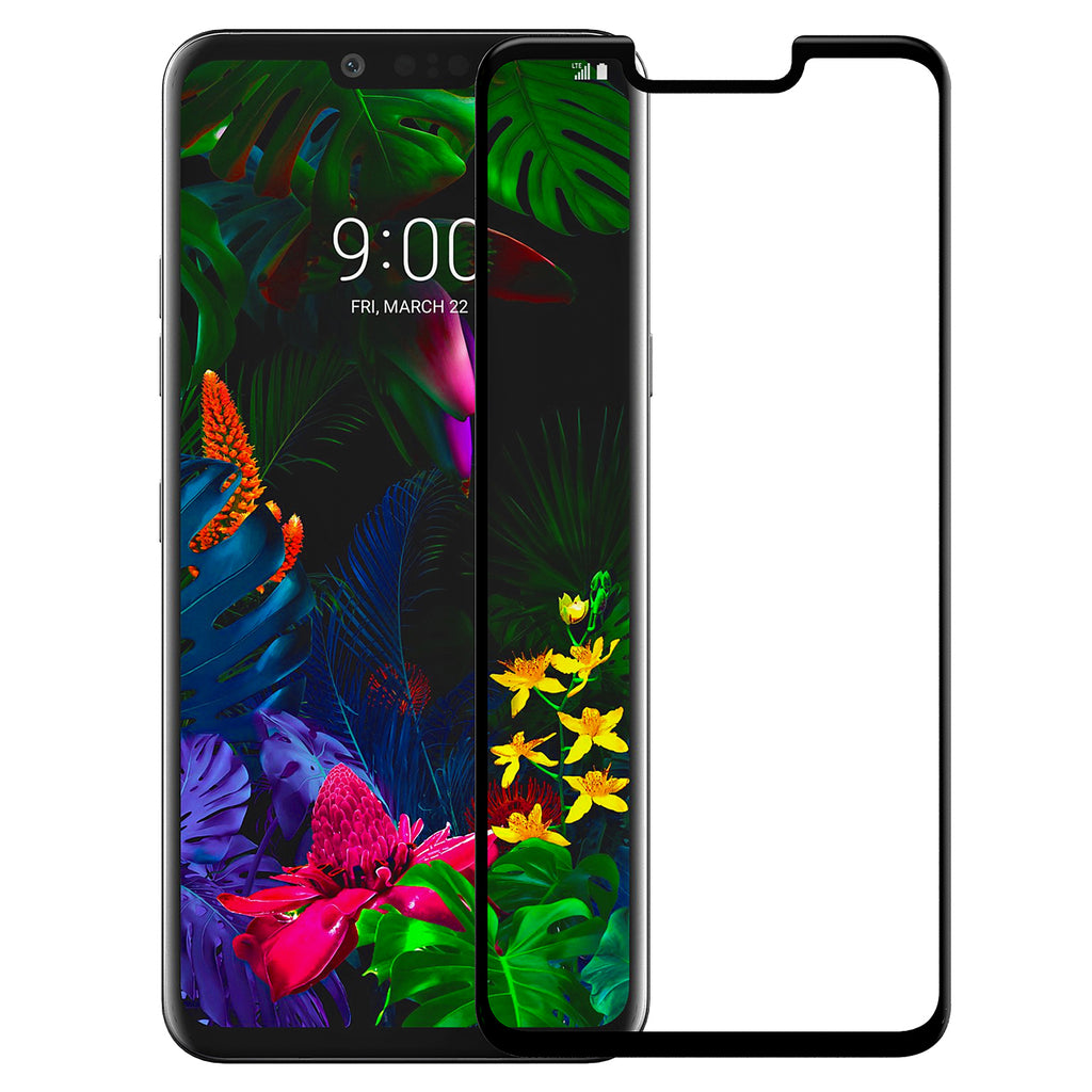 lg g8 thinq screen protector tempered glass - black - www.coverlabusa.com
