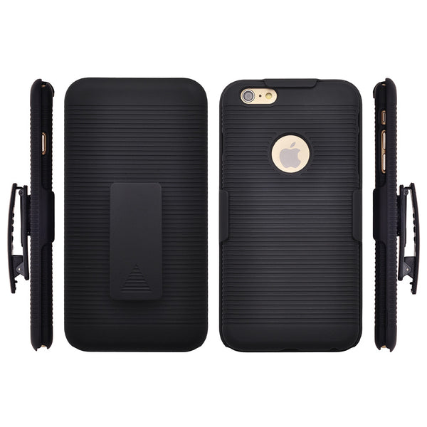 iPhone 6S / 6 combo holster shell case - bk - www.coverlabusa.com