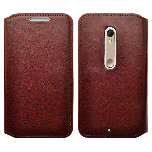 motorola moto x style leather wallet case - brown - www.coverlabusa.com