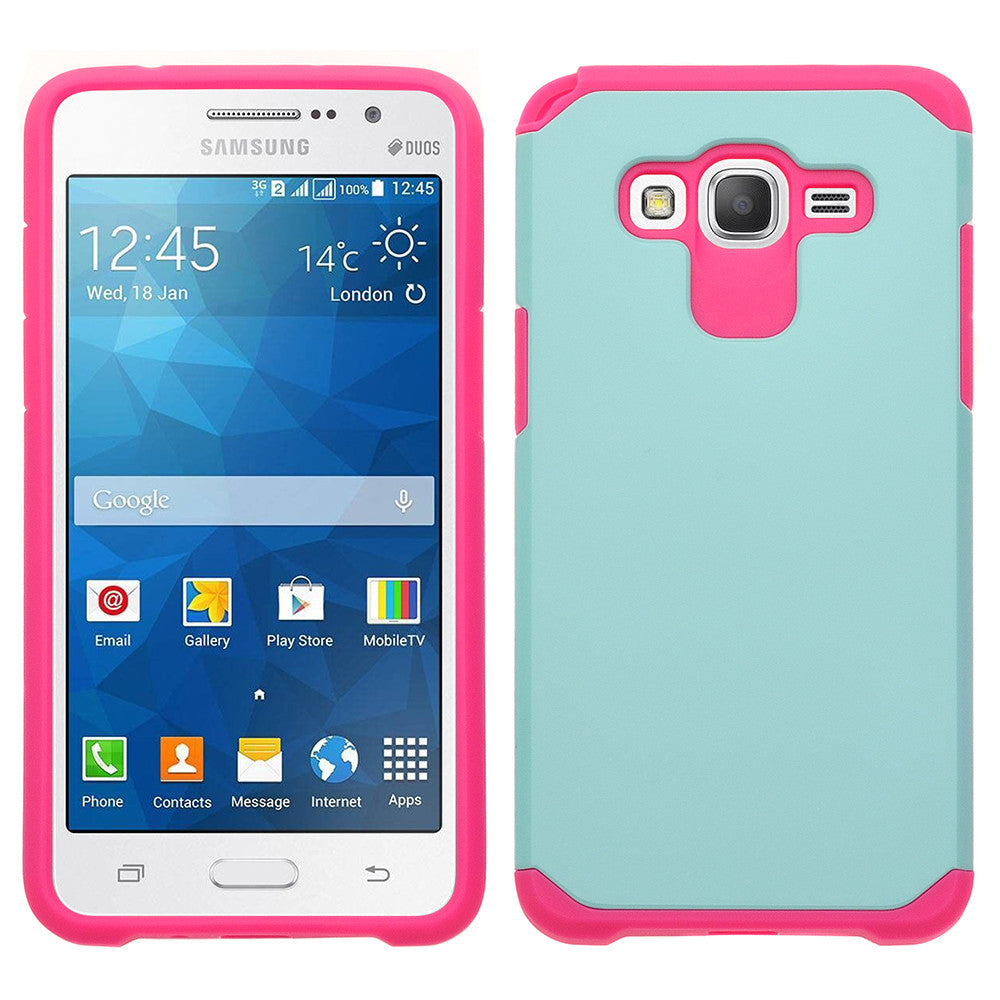 Galaxy Go Prime / Grand Prime Case, teal/hot pink www.coverlabusa.com