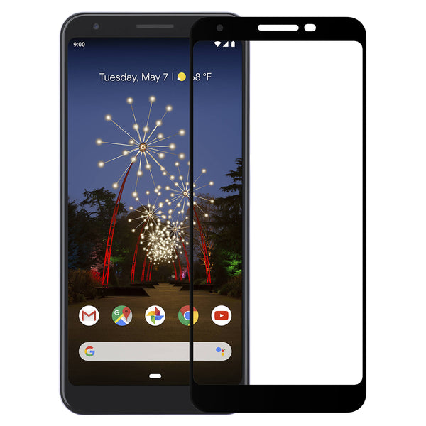 google pixel 3a xl screen protector tempered glass - black - www.coverlabusa.com