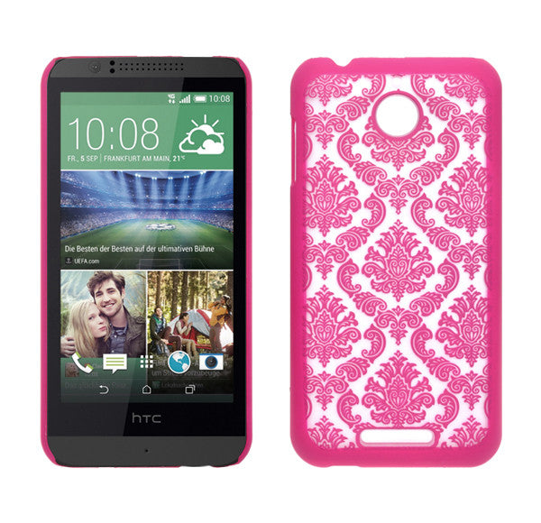 HTC Desire 510 Damask Case Cover - Hot Pink - www.coverlabusa.com