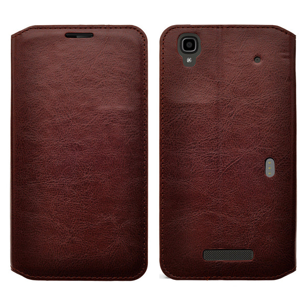 zte max leather wallet case - brown - www.coverlabusa.com