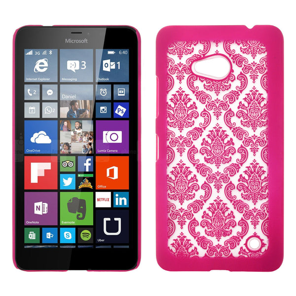 Microsoft Lumia 640 Damask-Hot Pink- www.coverlabusa.com