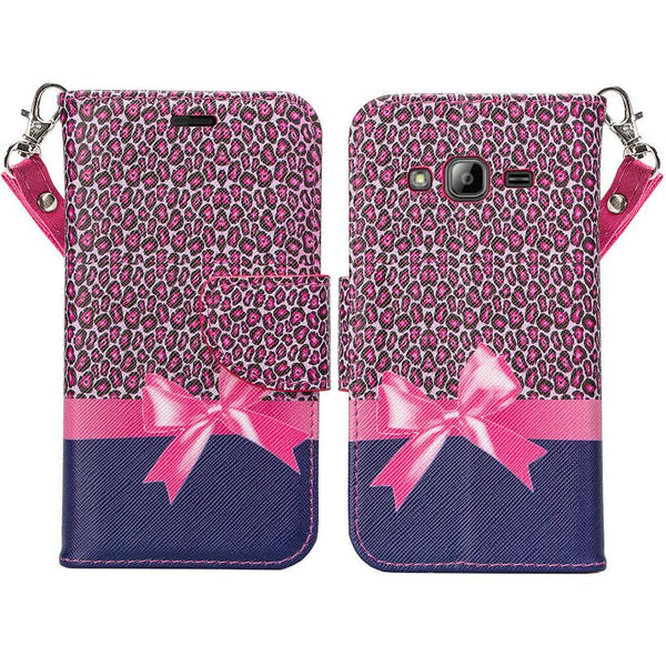 Galaxy Go Prime / Grand Prime Wallet Case hot pink cheetah, www.coverlabusa.com