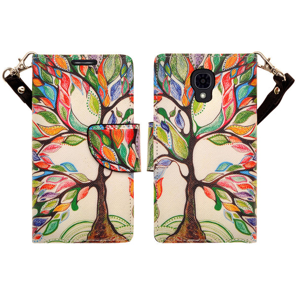 lg volt wallet case - colorful tree - www.coverlabusa.com