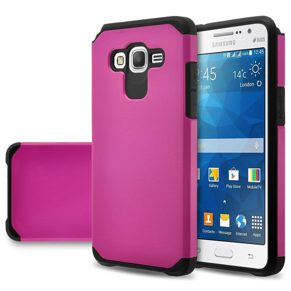 Galaxy Go Case, Samsung Grand Prime  Hybrid Case Cover - Hot Pink - www.coverlabusa.com