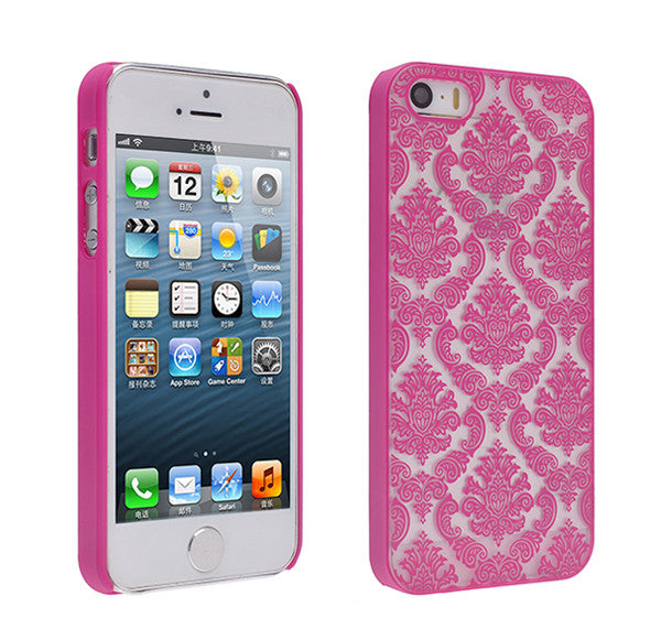 iPhone SE Case | iPhone 5S/5 damask-hot pink- www.coverlabusa.com