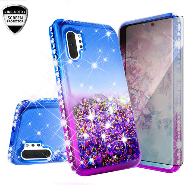 glitter phone case for samsung galaxy note 10 - blue/purple gradient - www.coverlabusa.com